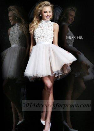 Short White Lace Sherri Hill 21345 Prom Dresses [short white cocktail dresses for prom] - $165.00 : Cheap Sequin Prom Dresses2014,Online Tailored Prom Dresses Shop,Homecoming Dresses Cheap