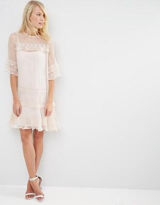 dress lace dress white lace dress ruffle dress wedding wedding dress