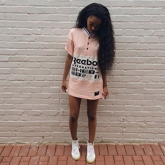 shirt reebok urban dope pastel pink jersey urban pastel pink dress light pink black dress ayee