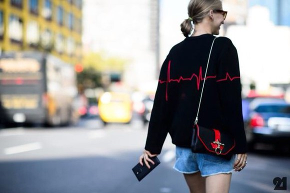 girly grunge sweater cardigan heart beat music fall sweater