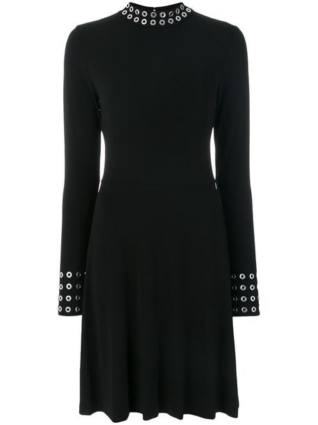 MICHAEL Michael Kors dress eyelet dress metal women spandex black