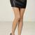 Pleather Reptile Textured Mini Skirt