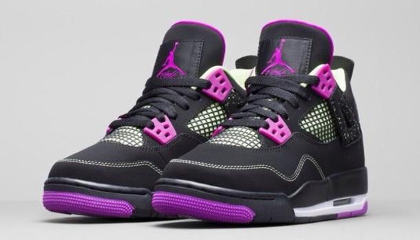 Jordan Shoes For Girls Black And Purple