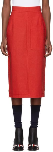 Thom Browne skirt high red
