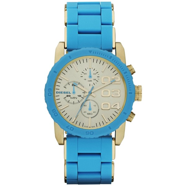 Diesel DZ5360 Blue silicone/stainless steel ladies watch - Polyvore