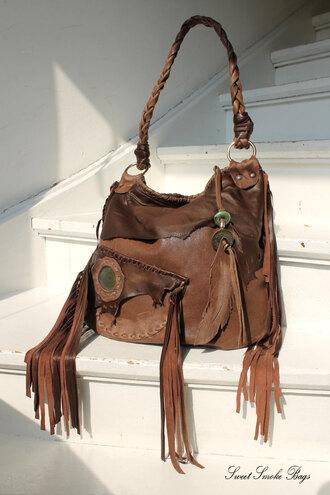bag leather bag tribal bag southwestern bag artisan bag asymmetrical raw edges jacket raw edges bag fringed bag fringes