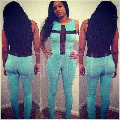 Cross Mesh Jumspsuit-MINT COLOR ONLY · LAVISH · Online Store Powered by Storenvy