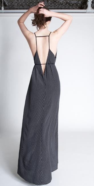 dress backless strappy back low back