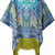 Etro - paisley print fringed kaftan - women - Silk/Viscose - One Size, Blue, Silk/Viscose