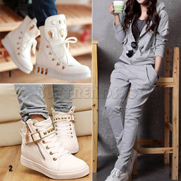 shoes white sneakers basket gold
