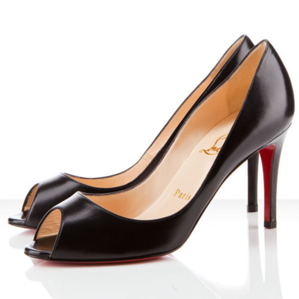 shoes black heels louboutin