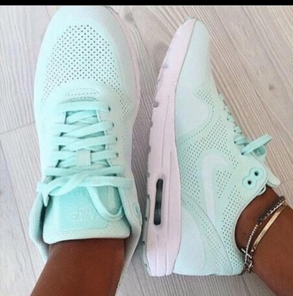 shoes mint blue nike