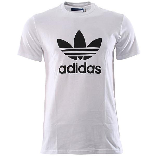 Adidas Originals Adi Trefoil T-Shirt - White-Black at Urban... - Polyvore