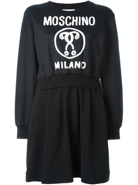 Moschino dress sweatshirt dress women print black