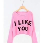 sweater,pink,crop,cropped sweater,cute,cute sweaters