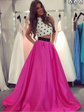 dress,two pieces prom dress,halter prom dress,satin prom dress,beauty0516