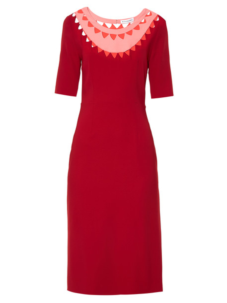 dress cut-out red