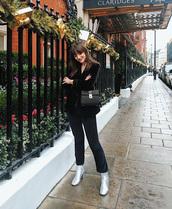 jacket,tumblr,blazer,black blazer,velvet,velvet blazer,boots,silver boots,pants,black pants,cropped pants