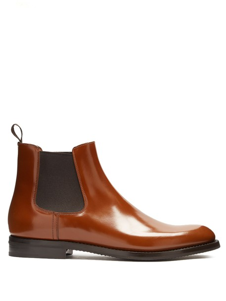 Church's chelsea boots leather dark brown shoes