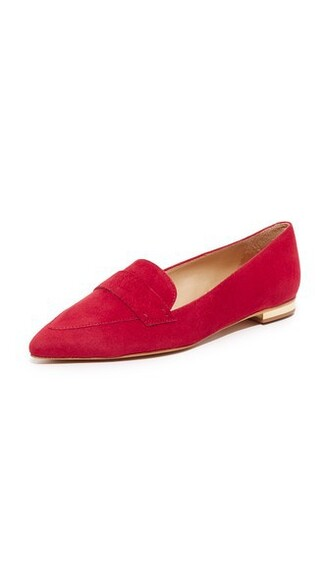 flats red shoes
