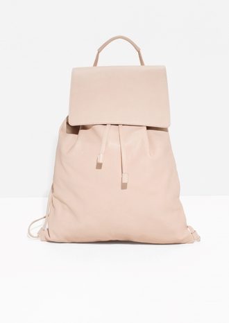 bag leather backpack blush pink pink bag backpack