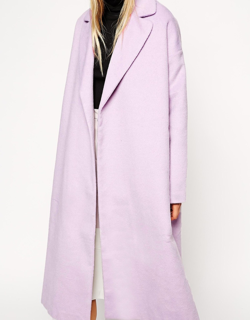 ASOS Coat in Relaxed Oversized Fit at asos.com