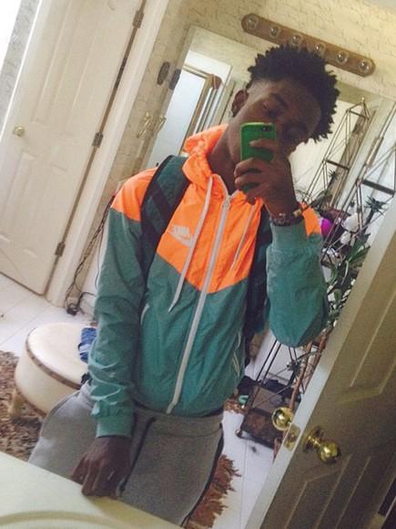 orange style jacket nike air green fashion joggers sweatpants