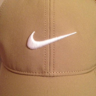 hat nike nike hat white brown