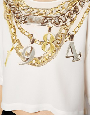 ASOS | ASOS Top with 1984 Chain Print at ASOS