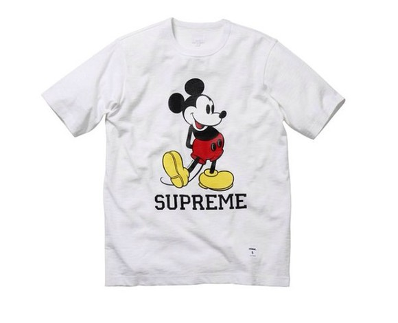 supreme t-shirt yellow red supreme t-shirt black, white, mickey mouse,