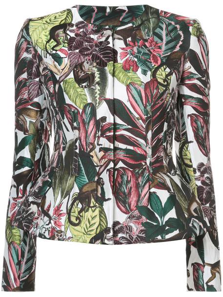 oscar de la renta jacket printed jacket women