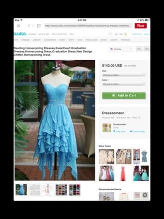 dress homecoming dress prom dress high low dress blue dress