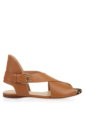 hair sandals leather sandals leather tan shoes