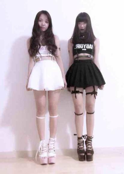 platform high heels platform shoes kawaii white kawaii grunge soft grunge black jewels soft ghetto skirt kawaii dark