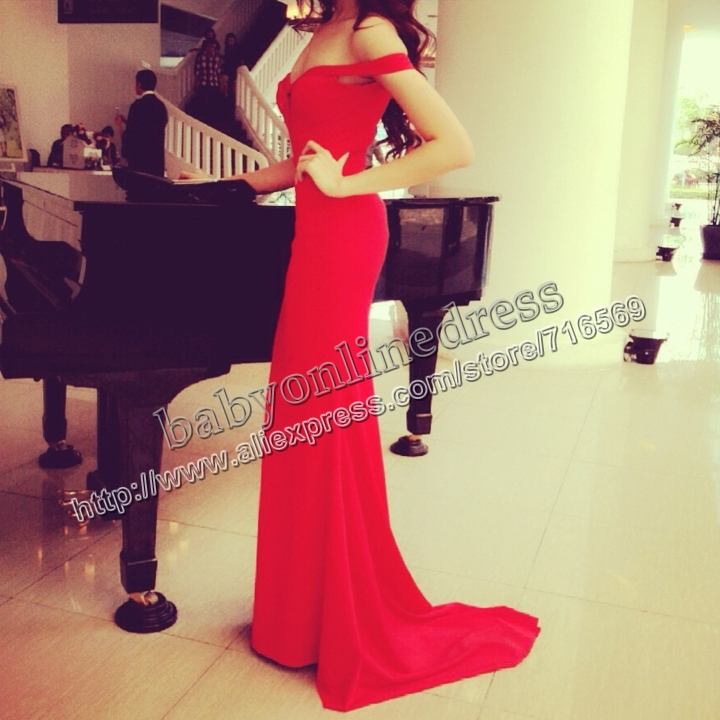 Aliexpress.com : Buy 2014 Sexy New arrival Red vestidos de gala robe de mariee blanche et rouge Mermaid evening dress long Wheretoget Custom made from Reliable dress cl suppliers on Suzhou Babyonline dress Co.,LTD