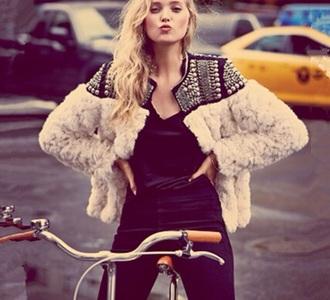 coat fur jacket fluffy fur coat faux fur
