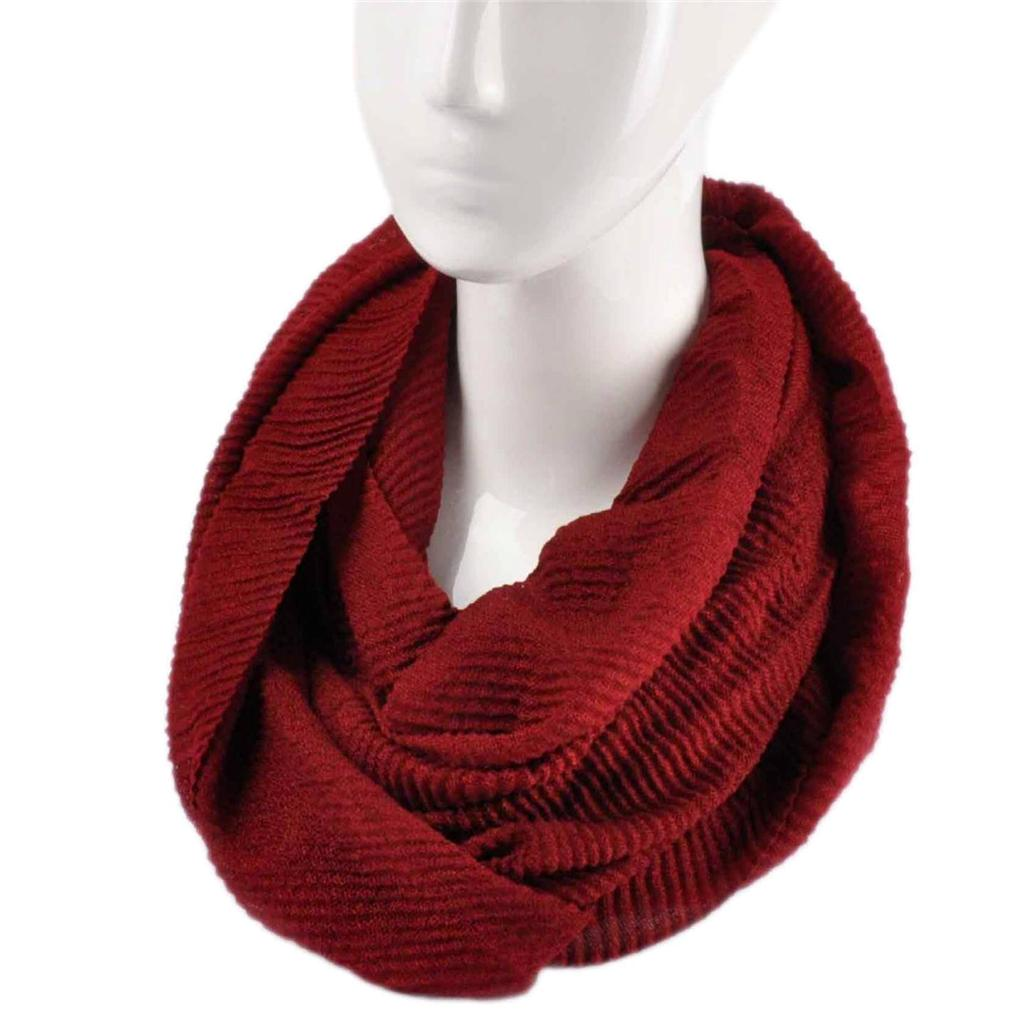 Ladies fashion knitted snood warm winter women two tone snood scarf