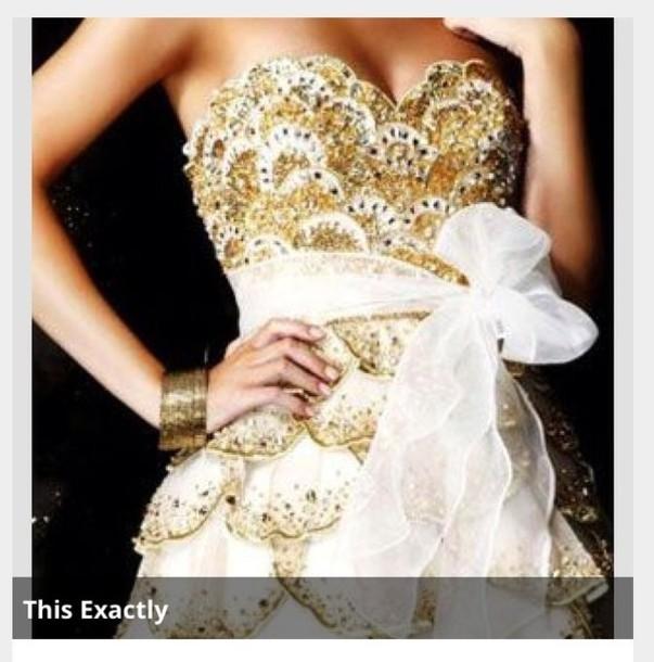 dress gold scales dimond white