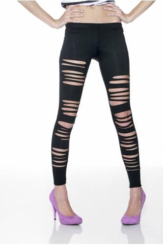 Milky way ripped leggings