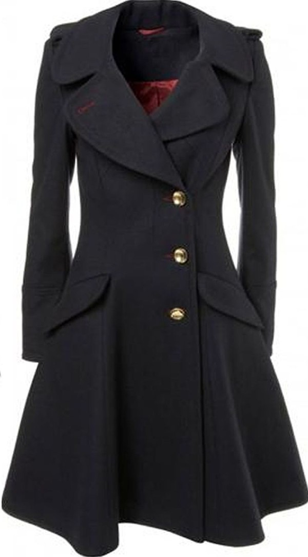 Wool Flared Coat - Coat Nj
