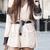 Apricot Wrap Front Contrast Black Lace Playsuit -SheIn(Sheinside)