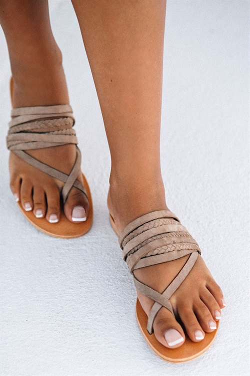 815e8b25cd78 Deck Slides - Nude Suede - Shoes by Sabo Skirt