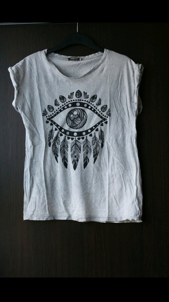 shirt eye indie dreamcatcher feathers hippie t-shirt