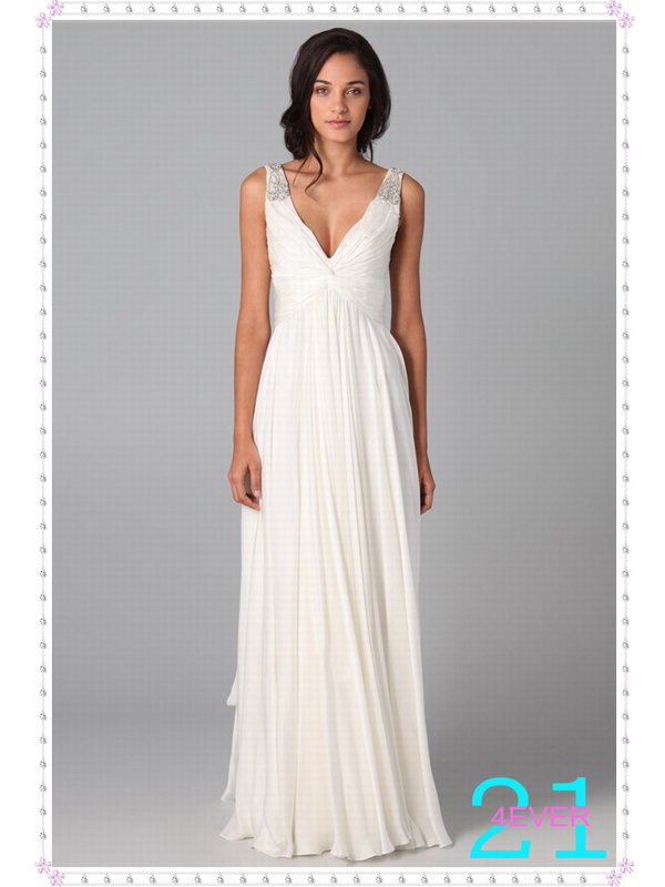 Aliexpress.com : buy 2013 hot selling simple elegant floor length v neck sheath/column beading ruched cheap wedding dresses under 150 wd 7027 from reliable dress sleeves suppliers on 21 4ever