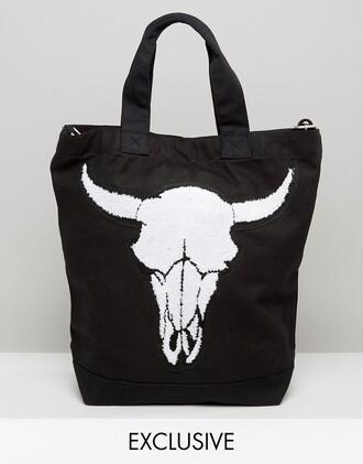 bag tote bag skull