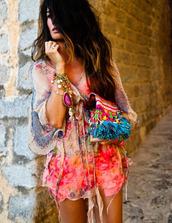 dress,kimono,beach,wrap dress,chiffon