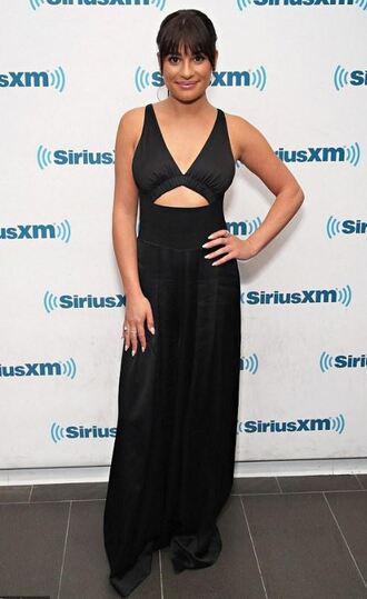 jumpsuit black dress maxi dress lea michele pants wide-leg pants