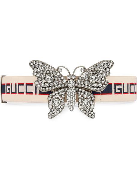 gucci metal women butterfly spandex 100 belt white