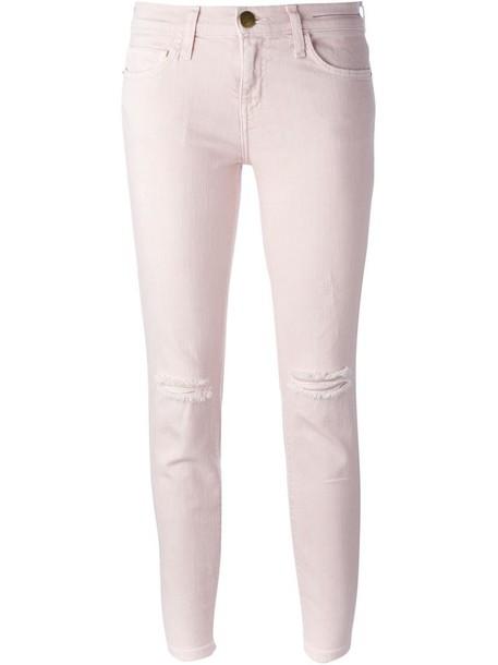 Current/Elliott jeans skinny jeans ripped purple pink