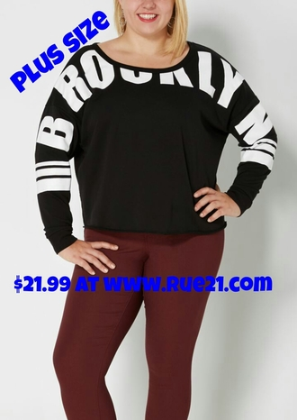 shirt brooklyn t-shirt graphic tee black and white plus size rue 21